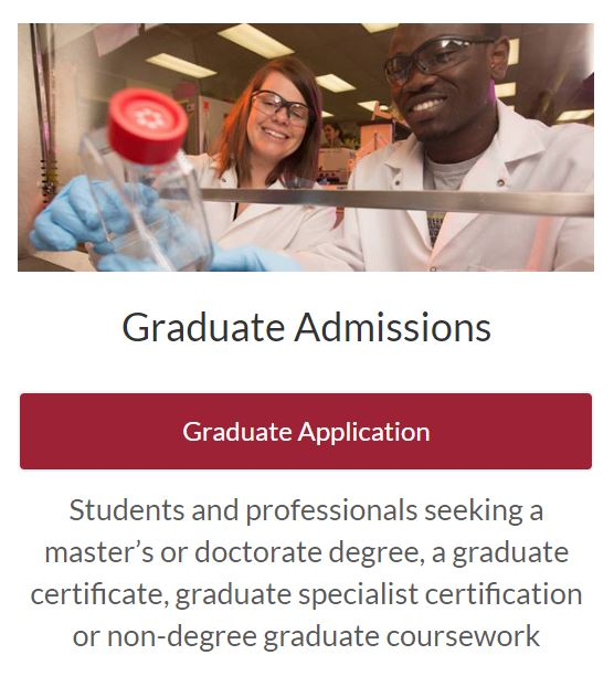 Graduate Admissions Application