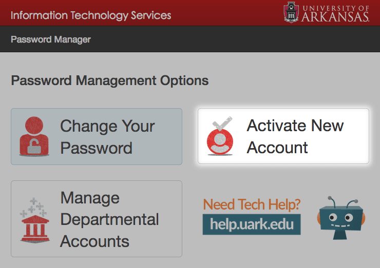 newuser.uark.edu - Activate Your Account